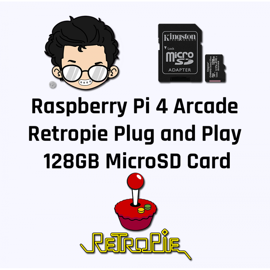 Raspberry Pi Arcade Model 4B 128GB MicroSD Card